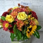 Fall Rose & Sunflower Arrangement