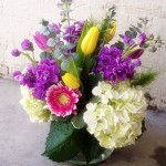 Stock & Hydrangea Arrangement